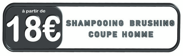 Prix champooning brushing coupe homme chez VIP Espace Coiffure